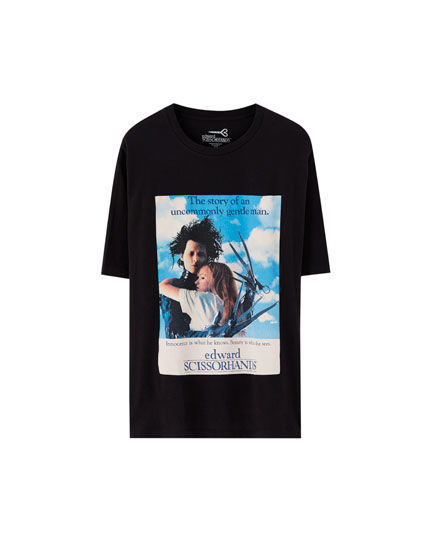 Black Edward Scissorhands T-shirt