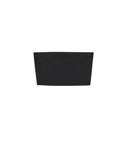 Basic black bandeau top