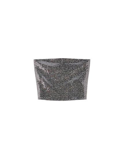 Shimmer bandeau top
