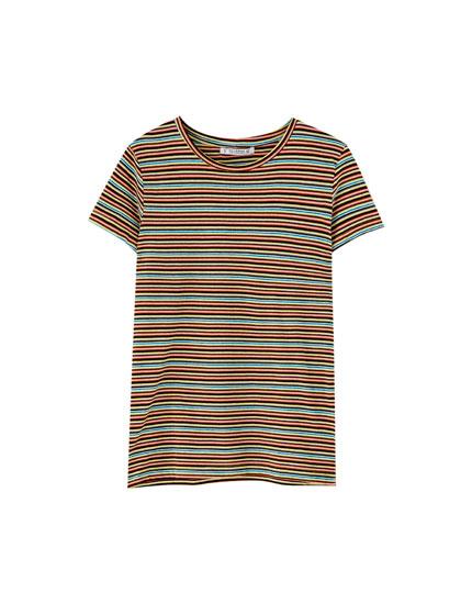 Camiseta rayas manga corta