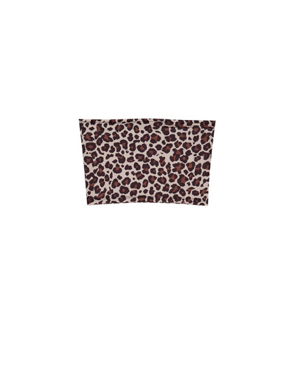 Animal print bandeau top