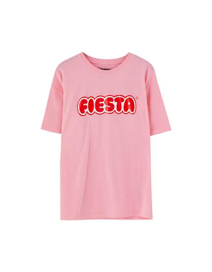 Camiseta Fiesta manga corta