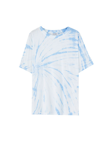 Tie-dye short sleeve T-shirt