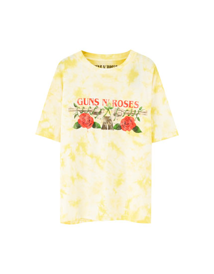 T-shirt Guns N' Roses tie and dye