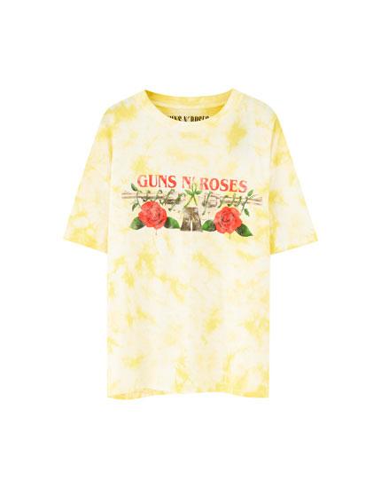 Camiseta Guns N' Roses tie-dye