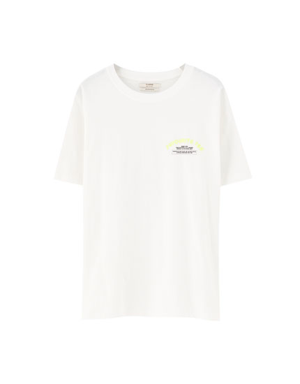 T-shirt with neon graphic detail