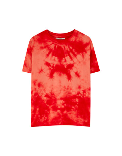 Red tie-dye T-shirt