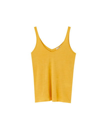 Basic V-neck vest top