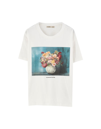 Tie-dye floral T-shirt