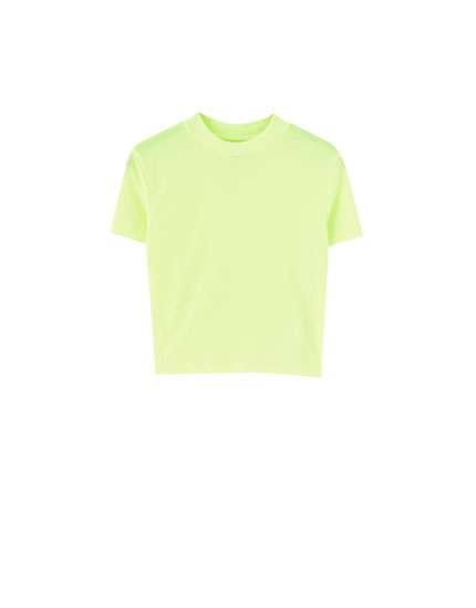 T-shirt fluo col montant