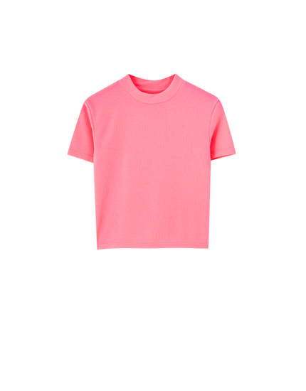 Neon high neck T-shirt