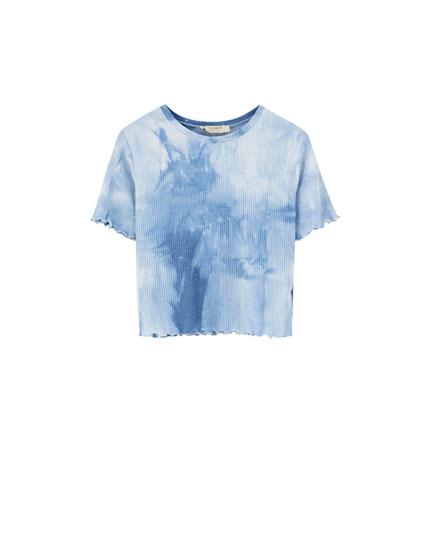 T-shirt côtelé tie-dye