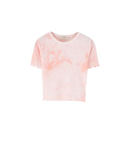 Ribbed tie dye T-shirt