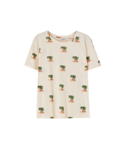 All-over palm tree T-shirt