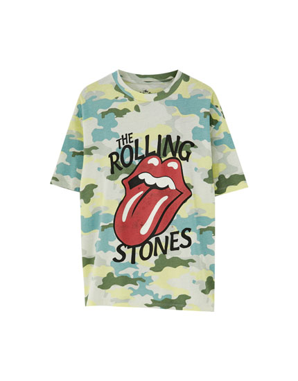 Rolling Stones camouflage T-shirt