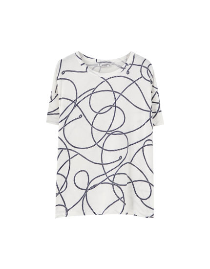 Camiseta print cuerdas all over