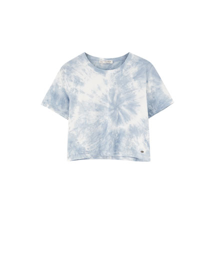 T-shirt tie and dye manches courtes amples