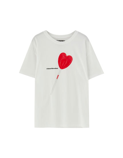 Short sleeve lollipop T-shirt