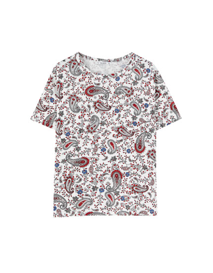 Paisley T-shirt with all-over print