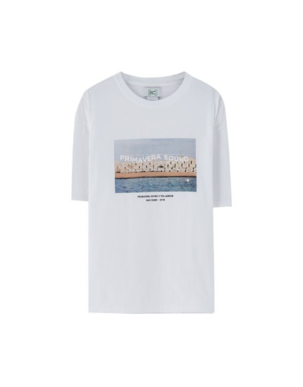 T-shirt imprimé photo Primavera Sound x Pull&Bear