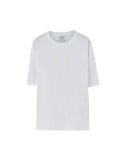 Weißes Shirt Primavera Sound x Pull&Bear