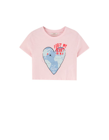 T-shirt with heart illustration