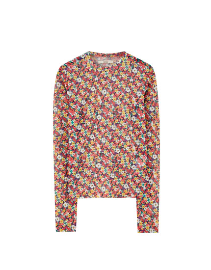 Camiseta tul manga larga