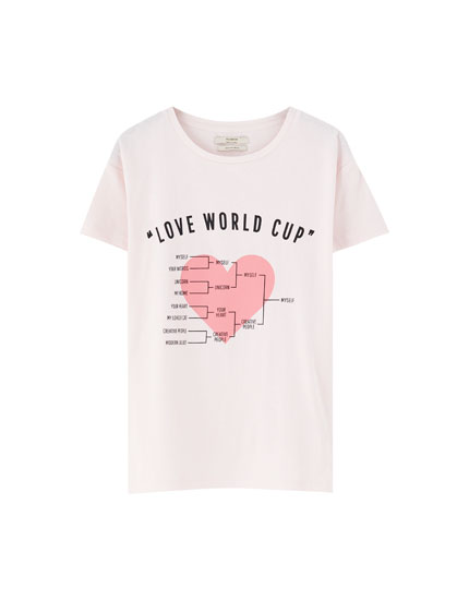 T-shirt with summer illustration