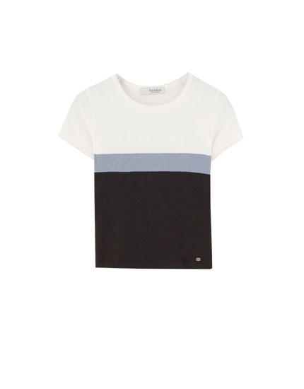 Panelled short sleeve T-shirt