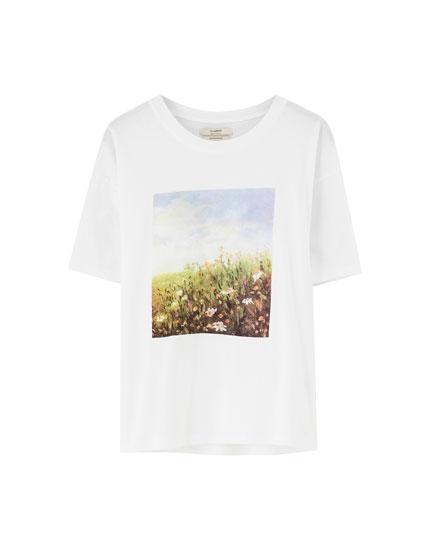 White landscape T-shirt