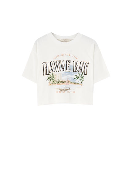 "Round neck ""Hawae Bay"" T-shirt"