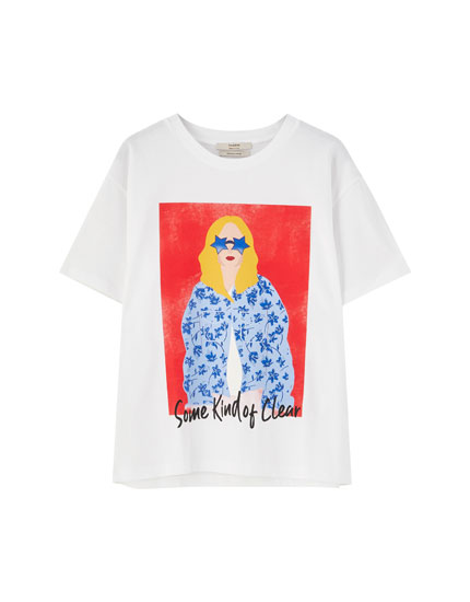 Girl with sunglasses T-shirt