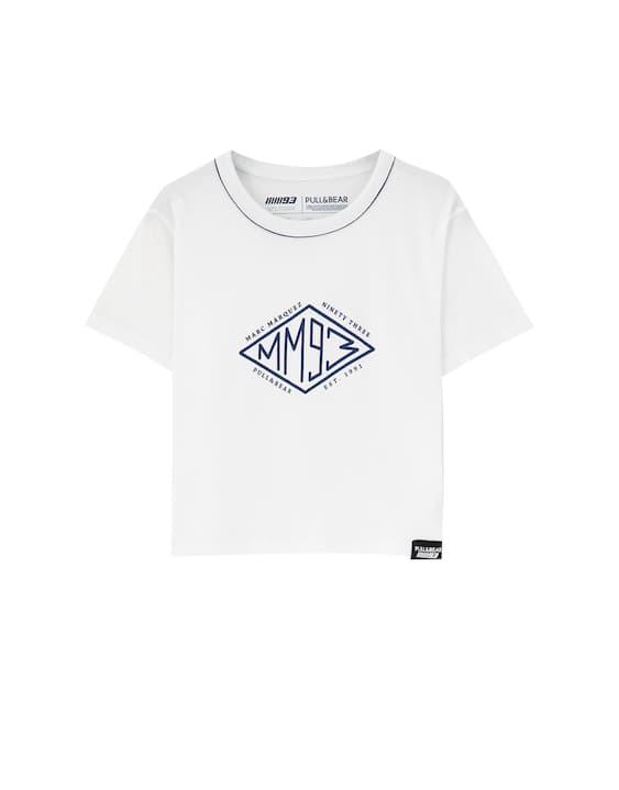 ef3eeec9a6247 HIELO. Volver. Camiseta Marc Márquez MM93 blanca