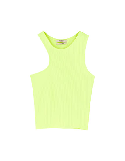 Asymmetric neon top