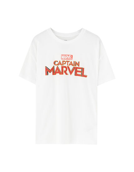 Marvel white short sleeve T-shirt