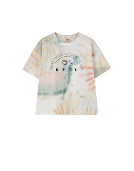 Tie-dye astrology T-shirt