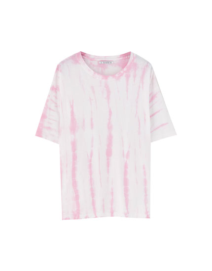 Short sleeve tie-dye T-shirt