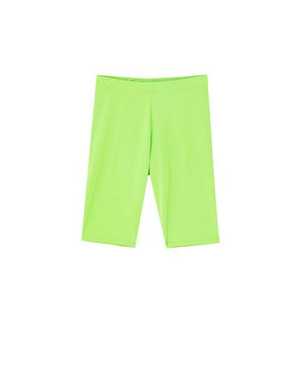 Pantalón ciclista colores flúor