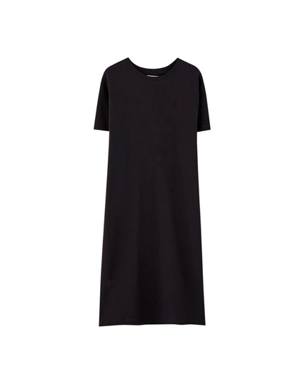 Midi-jurk in T-shirtmodel