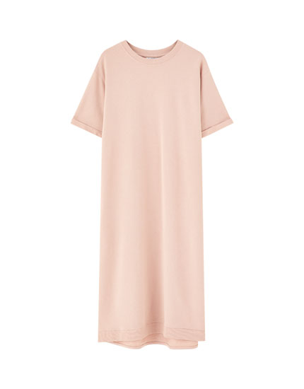 T-shirt dress with uneven hem