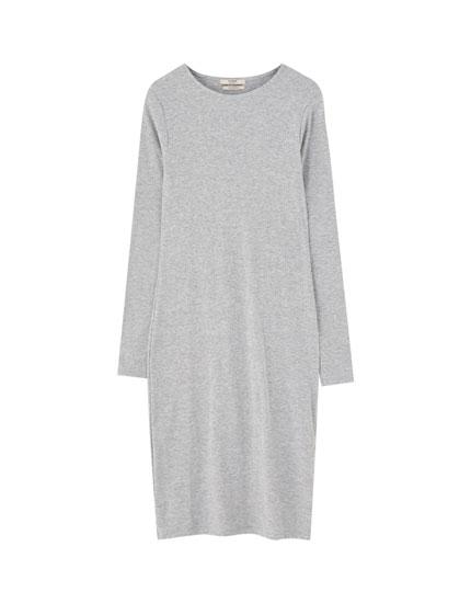 Cotton long sleeve dress