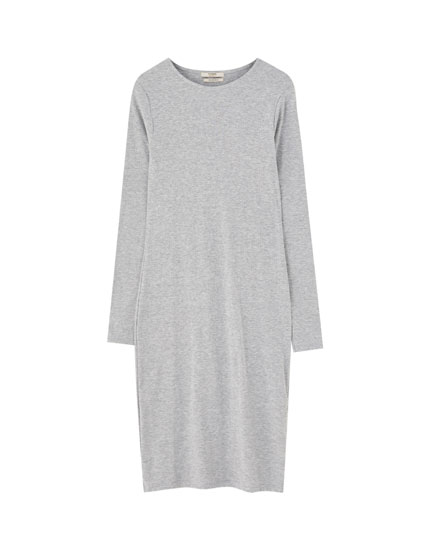 Cotton long sleeve dress