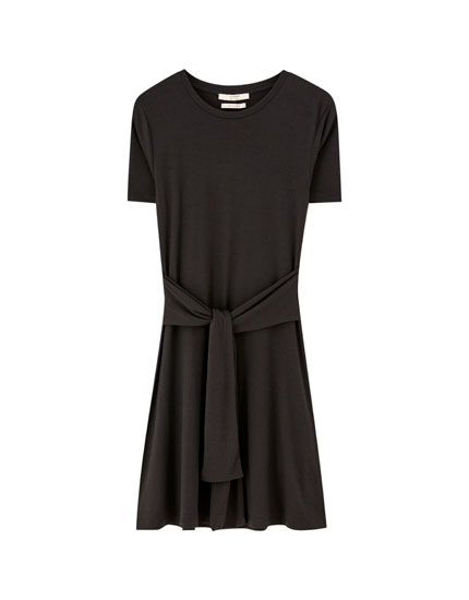 Short belted dress