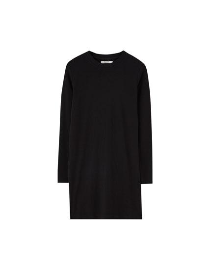 Ribbed long sleeve dress