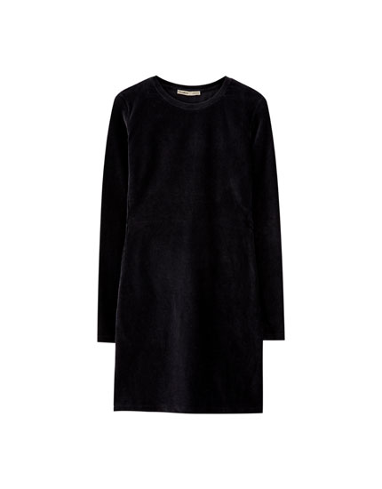 Long sleeve needlecord dress