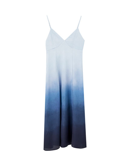 Tie-dye camisole midi dress