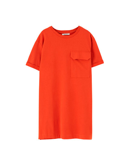 T-shirt dress with pocket