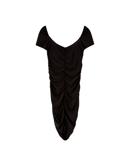 Mini dress with square-cut neckline