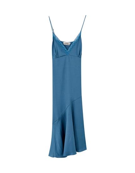 Vestido lencero midi