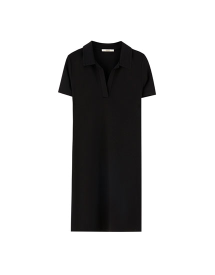 Short sleeve polo shirt-style dress